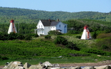 913 Range Lights At Margaree Harbour Beach